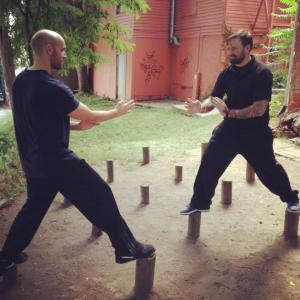 Sifu Bartell with his Sifu training in Iowa