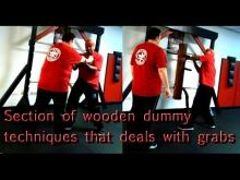 Embedded thumbnail for Wooden Dummy form section 5 that deals against grabs in a street fight with detailed applications